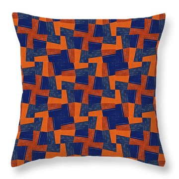Blue And Coral Throw Pillow