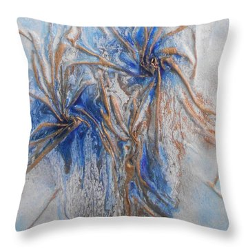 Blue And Gold 1 Throw Pillow