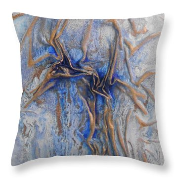Blue And Gold 2 Throw Pillow