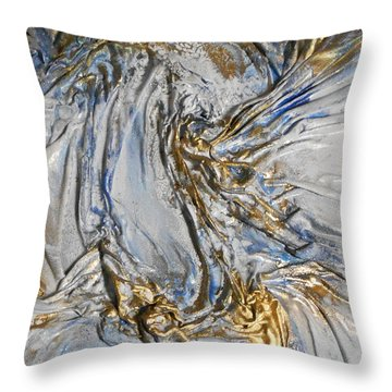 Blue And Gold 3 Throw Pillow