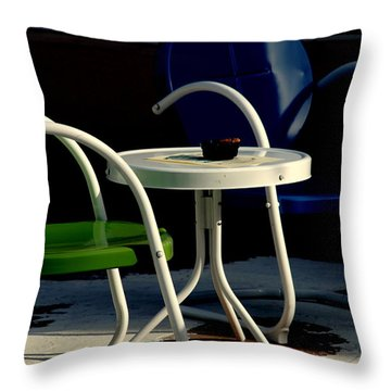 Blue And Green Throw Pillow by Susanne Van Hulst