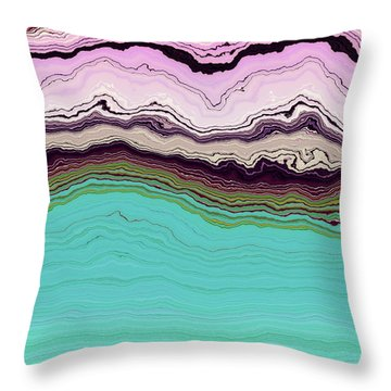 Blue And Lavender Throw Pillow