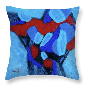 Blue And Red Throw Pillow