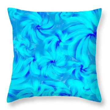 Blue And Turquoise 2 Throw Pillow
