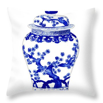 Blue And White Ginger Jar Chinoiserie 10 Throw Pillow