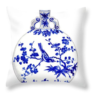 Blue And White Ginger Jar Chinoiserie 6 Throw Pillow