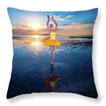 Blue And Yellow 2 Throw Pillow