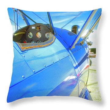 Blue And Yellow Bi Wing  Throw Pillow