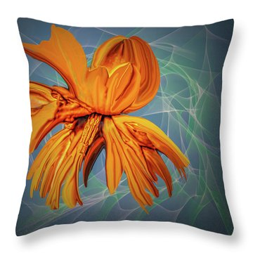 Blue And Yellow #h6 Throw Pillow