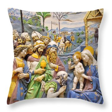 Throw Pillow featuring the photograph Blue And Yellow by Munir Alawi