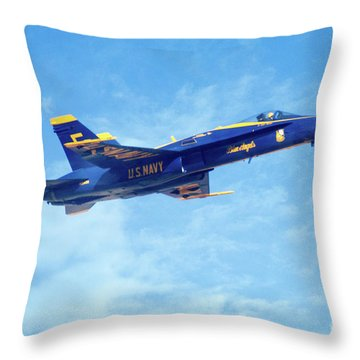 Blue Angel #5 In Arizona Throw Pillow