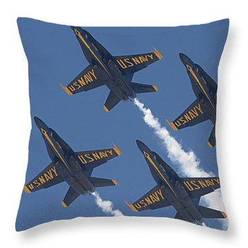 Blue Angels Blue Skies Throw Pillow