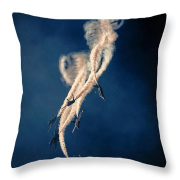 Blue Angels Breakout Throw Pillow