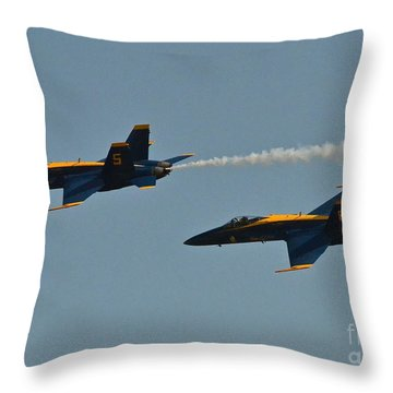 Throw Pillow featuring the photograph Blue Angels by Carol  Bradley
