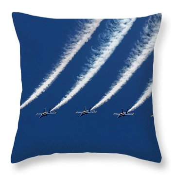 Blue Angels Formation Throw Pillow