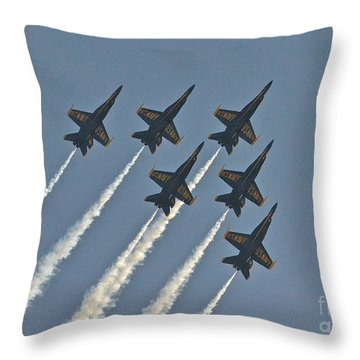 Throw Pillow featuring the photograph Blue Angels II by Carol  Bradley