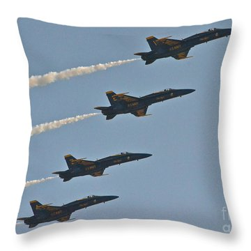 Throw Pillow featuring the photograph Blue Angels IIi by Carol  Bradley