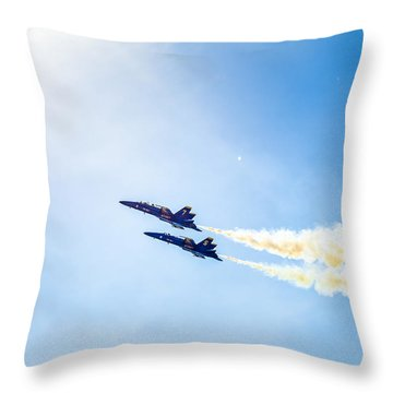 Blue Angels Into The Sun Throw Pillow