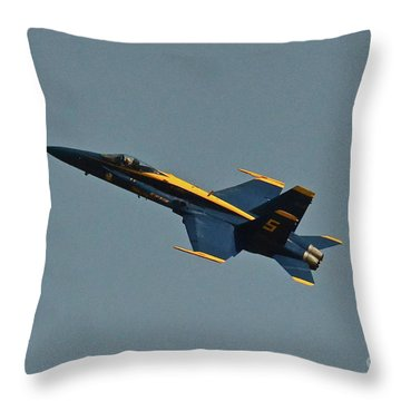 Throw Pillow featuring the photograph Blue Angels Number 5 by Carol  Bradley