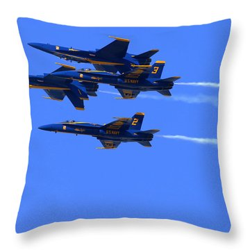 Blue Angels Perform Over San Francisco Bay Throw Pillow