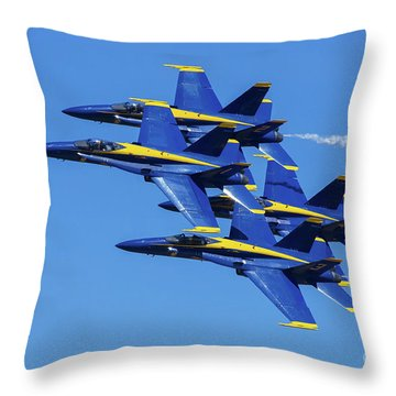Blue Angels Very Close Formation 1 Throw Pillow