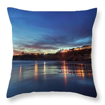 Throw Pillow featuring the photograph Blue As In Wonder, Not Melancholy by Quality HDR Photography