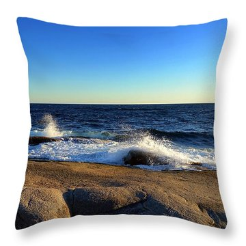 Blue Atlantic Throw Pillow