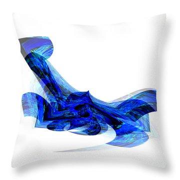 Blue Attitude Throw Pillow by Thibault Toussaint
