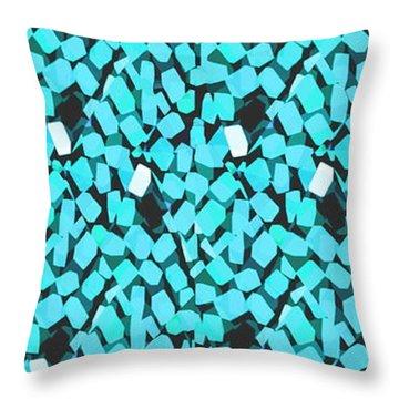 Blue Avalanche Throw Pillow by Steamy Raimon