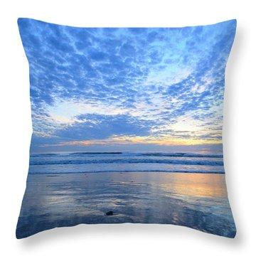 Throw Pillow featuring the photograph Beach Home Blues by John F Tsumas
