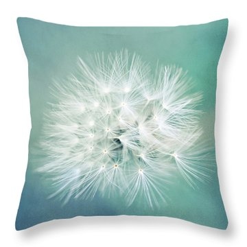 Blue Awakening Throw Pillow