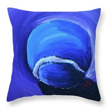Blue Ball Throw Pillow