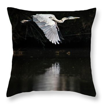 Blue Ballet Throw Pillow