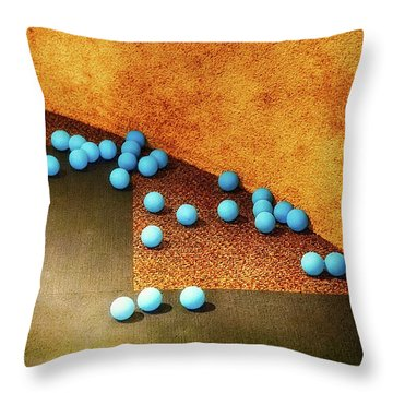 Blue Balls Throw Pillow