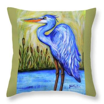 Blue Bayou Throw Pillow