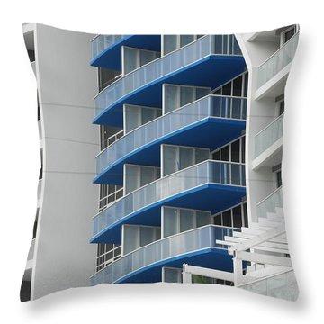 Blue Bayu Throw Pillow by Rob Hans