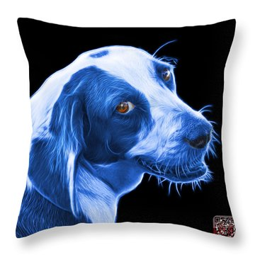 Blue Beagle Dog Art- 6896 - Bb Throw Pillow by James Ahn