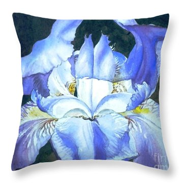 Throw Pillow featuring the painting Blue Beauty by Sandra Phryce-Jones