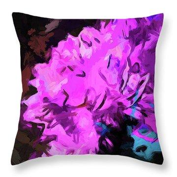 Blue Behind Pink Throw Pillow