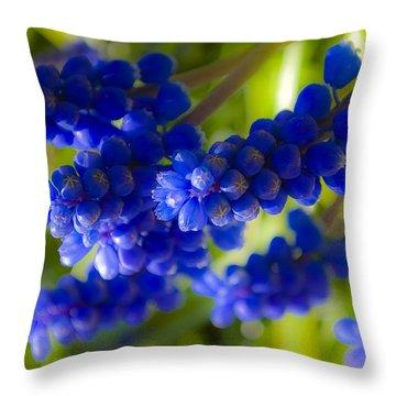 Blue Bell Throw Pillow by Svetlana Sewell