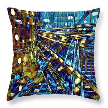 Blue Berlin Sound Throw Pillow