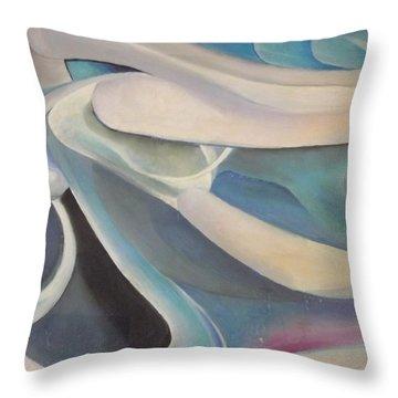 Blue Throw Pillow by Bernie Bishop
