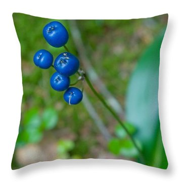 Blue Berries Throw Pillow