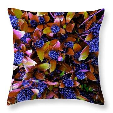 Blue Berries Throw Pillow