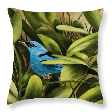 Blue Bird In Branson Throw Pillow
