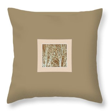 Throw Pillow featuring the photograph Blue Bird In Winter Tree by Felipe Adan Lerma