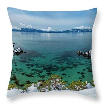 Blue Bird Secret Cove By Brad Scott Throw Pillow