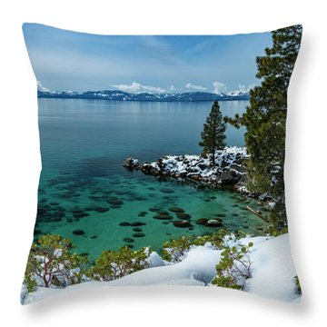 Blue Bird Secret Cove By Brad Scott Throw Pillow