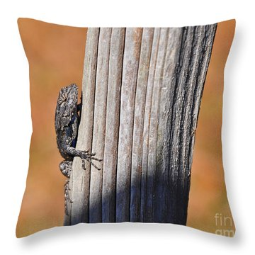 Throw Pillow featuring the photograph Blue Bits by Al Powell Photography USA