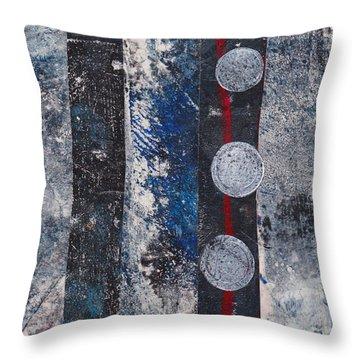 Blue Black Collage Throw Pillow
